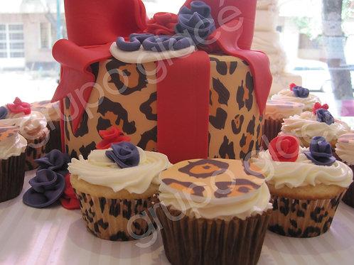 Animal Print Cake & Cupcakes