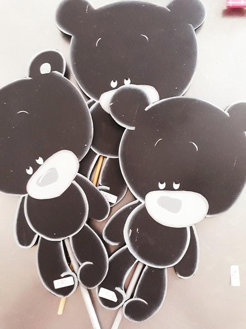 Letreros decorativos osos negros (set de 3 pzas)