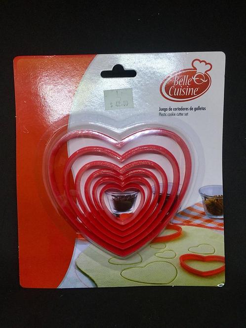 Cortadores corazón 6 tamaños