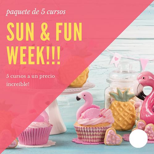 SUN AND FUN WEEK (paquete de 5 cursos)