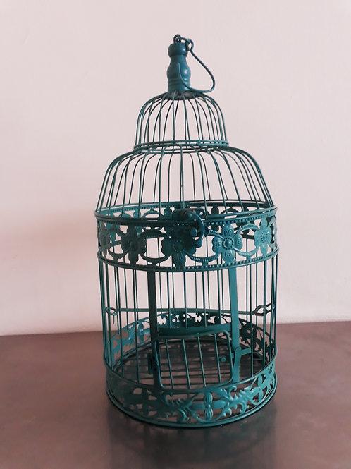 Jaula metal vintage azul