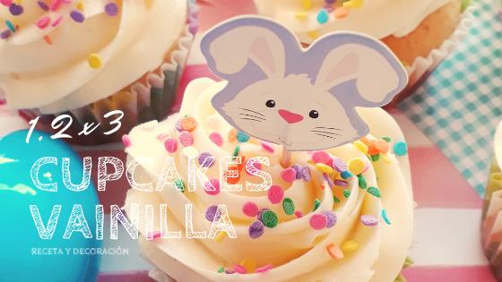 Cupcakes de vainilla en 1,2 x 3!