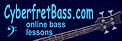 Cyberfret Bass link to review of Roy Vogt's award-winning Teach Me Bass Guitar online bass guitar lessons