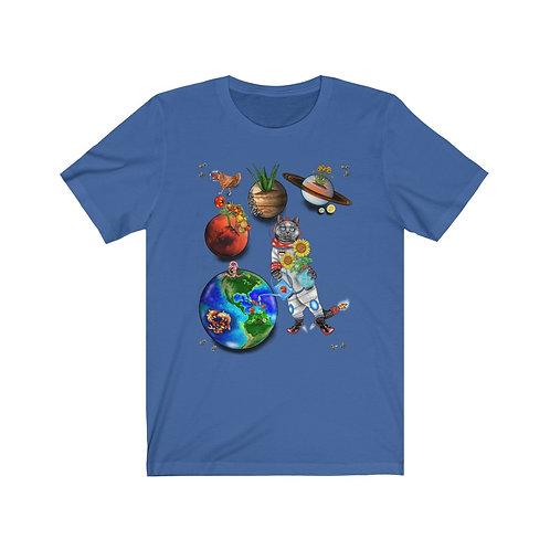 Space Kitty - Unisex Jersey Short Sleeve Tee