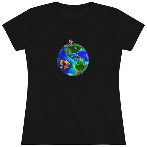 Earth and Space Chicken!  Women's Triblend Tee