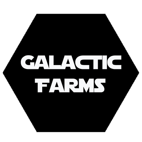 Stickers! Galactic Farms premium Stickers!  2.5in x 2.5in (2 count)