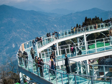 India's first Glass Skywalk in Pelling, West Sikkim