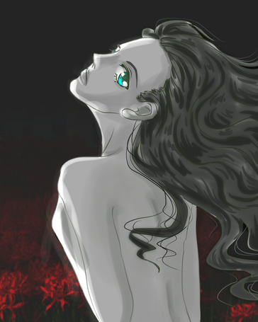 red spider lily -1h drawing