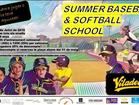SUMMER BASEBALL & SOFTBALL SCHOOL 2019