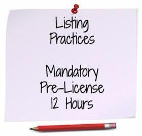 Listing Practices: November 19th 8-5PM & 20th 8am-12PM