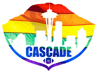 Cacade Flag Football Rainbow Logo