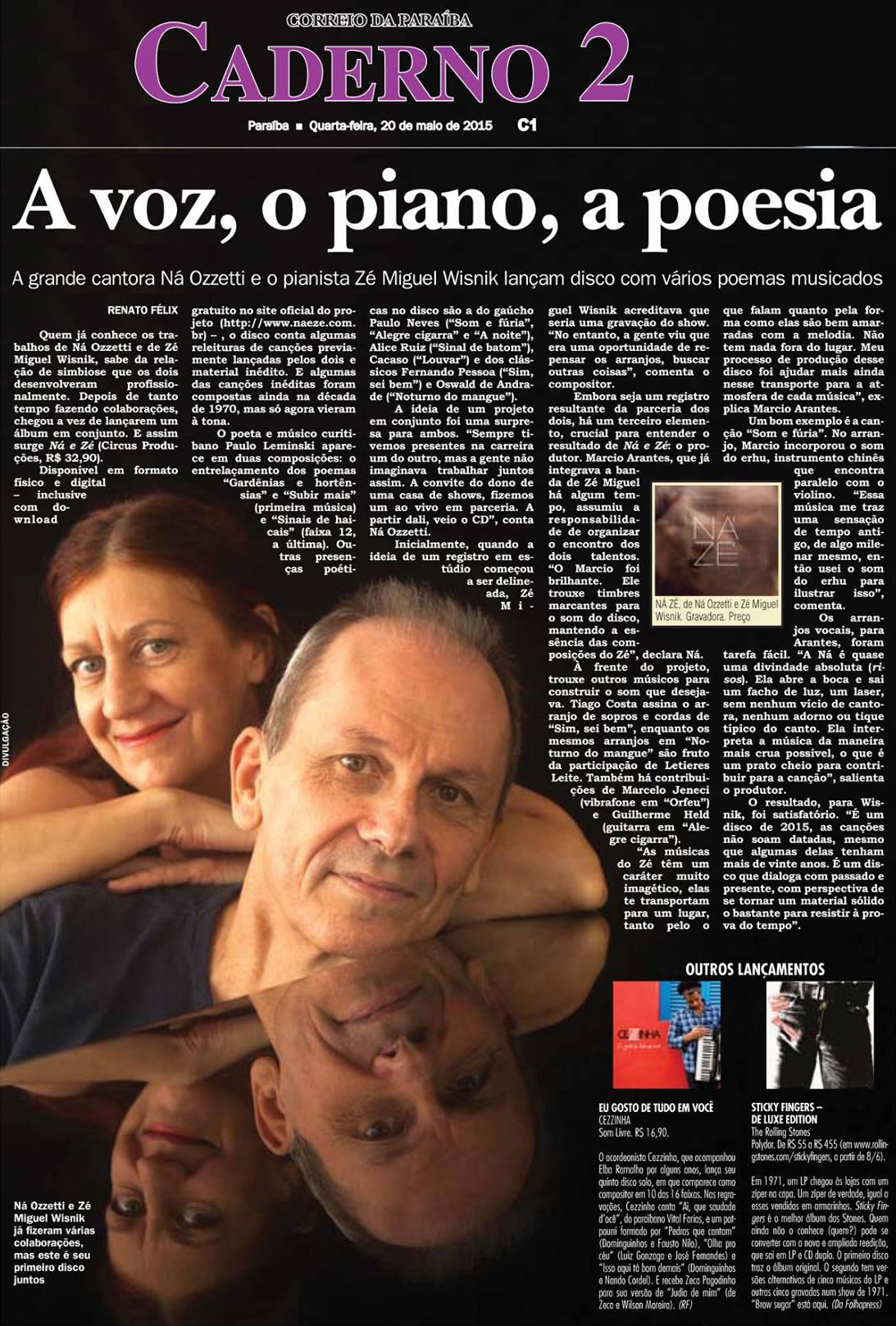 A voz, o piano e a poesia