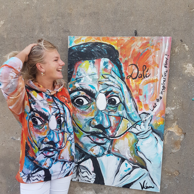 Salvador Dali Schilderij plus Hoodie