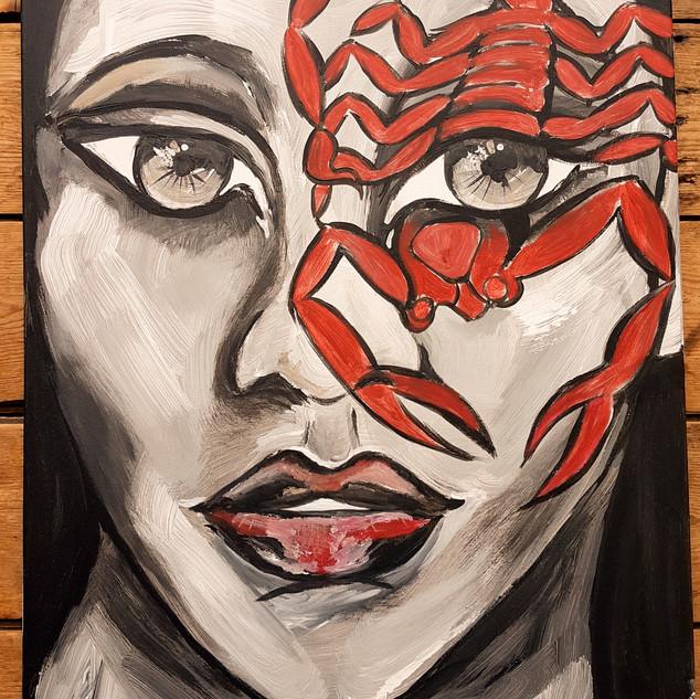 Scorpioface painting 60 x 80