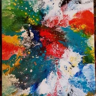 Splash schilderij 115 x 75
