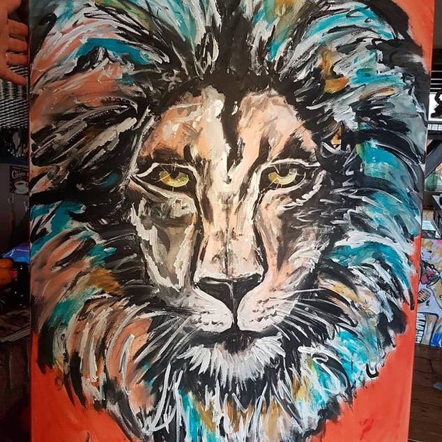 Leeuw Painting 115 x 75