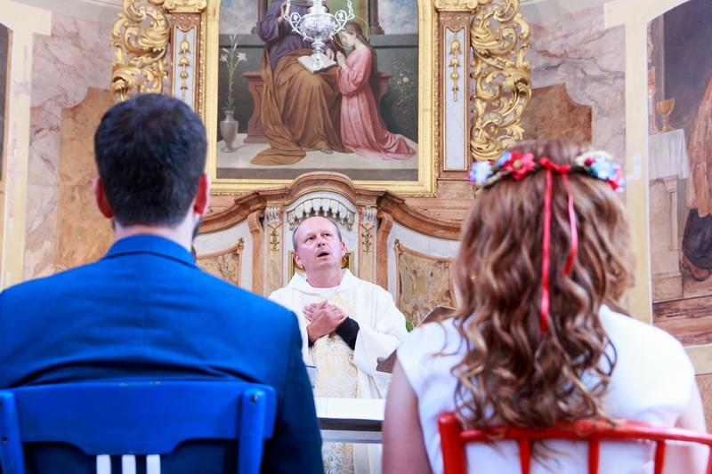 Svatba kostel Modletín