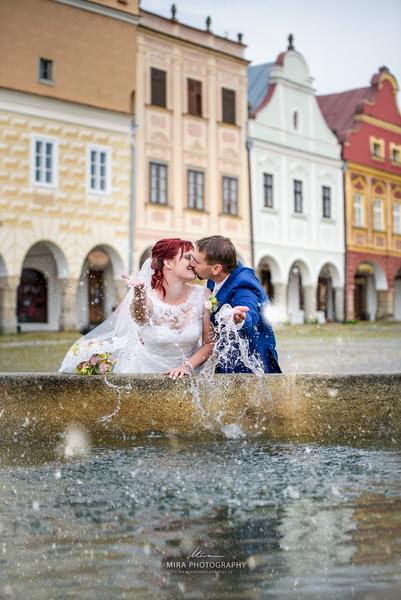 Svatební focení náměstí Telč