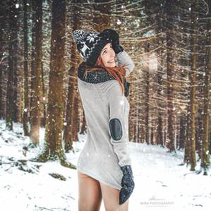 6 tipů pro modelky: Venkovní focení v zimě
