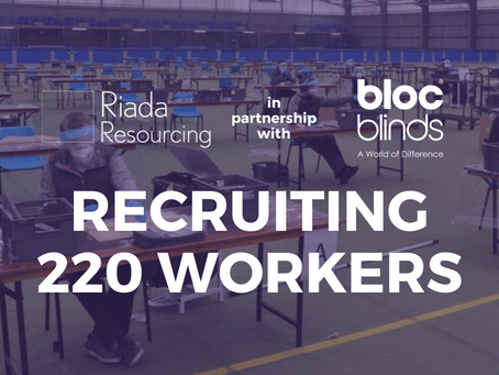 Riada recruiting 220 workers to boost production at Bloc FaceShield