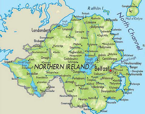 Small Map Of Ireland.Enjoy Northern Ireland The Craic S Mighty