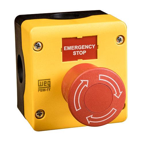 Emergency Stop Twist Release Mushroom Type 3R, 4X, 12, 13, IP66 Enclosure