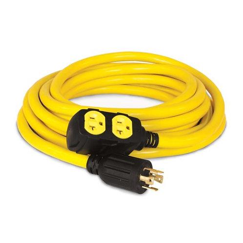 25-Foot 30-Amp 125/250-Volt Generator Extension Cord Model #48033