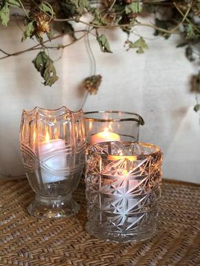 Vintage glass lanterns