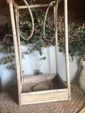 Large wicker hanging lantern