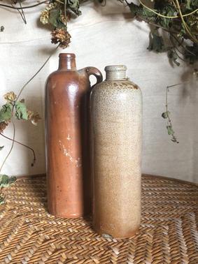 Dutch stoneware gin bottle