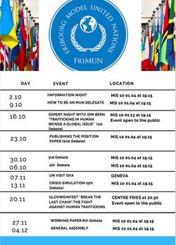 Frimun Schedule Fall Semester