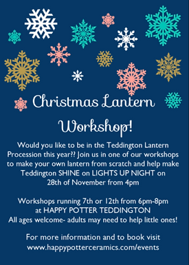 Lantern Making Workshop for Teddington Christmas Lantern Procession
