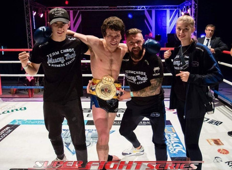 Gvidas Semionovas   TEAM CHAOS   Beat Andy Turland for the British K-1 Title -64kg
