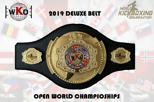 2019 WKO - OPEN WORLD CHAMPIONSHIPS BELT (DELUXE)