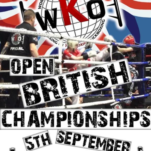 WKO Open British Championships 2020