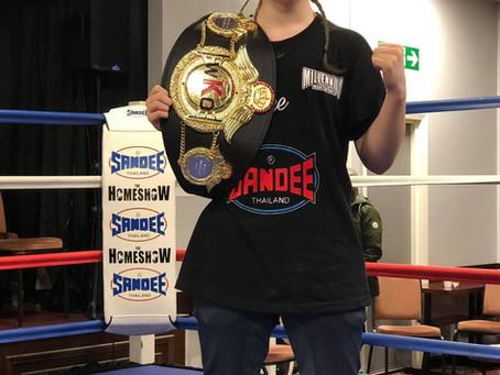 McKenna Wade WKO European Champion