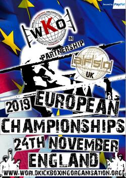 WKO EUROPEAN FLYER 2019