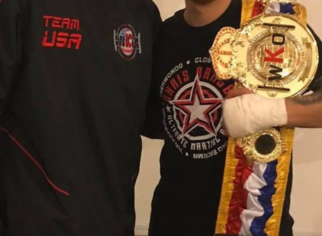 Jared Rangel WKO USA Champion