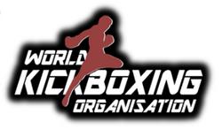 WKO kicking man red white black logo