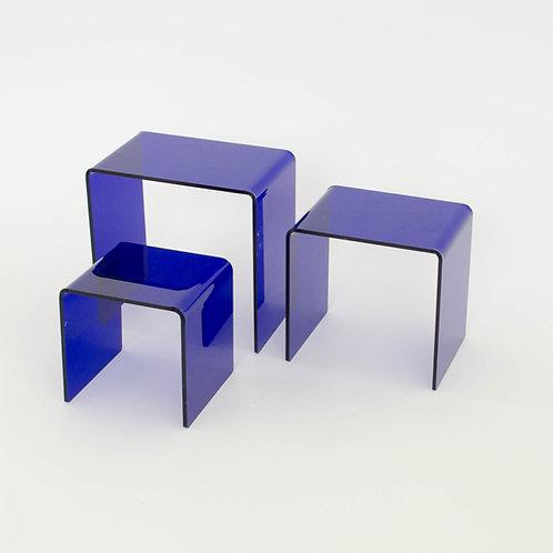 Trio mini acrílico azul