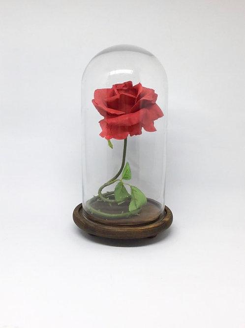 Redoma com rosa (Pequeno Principe) (A Bela e a Fera)