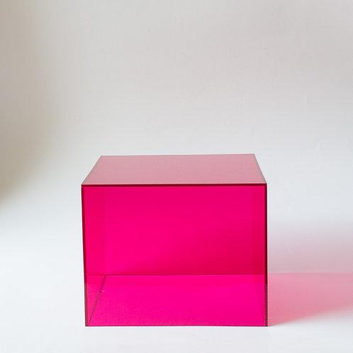 Cubo  acrílico rosa