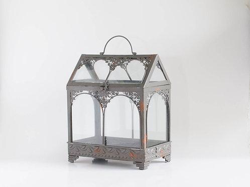 Terrário ferro e vidro