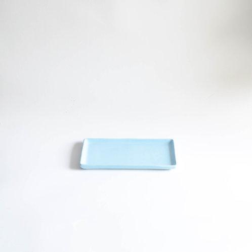 Bandeja Clean retangular azul claro