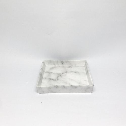 Bandeja quadrada mármore