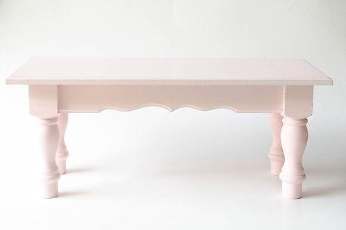 Banco de madeira rosa