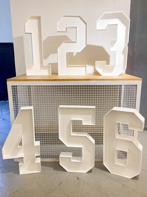 Números de chão - customizáveis 60cm (cada)