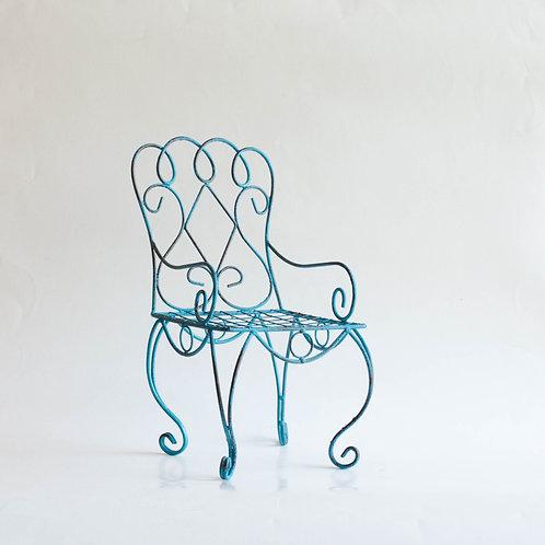 Cadeira metal azul