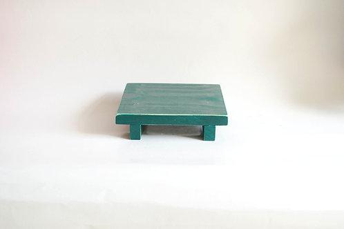 Bandeja madeira Geta PP verde petroleo
