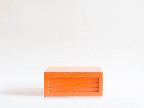 Caixa madeira Geta P laranja